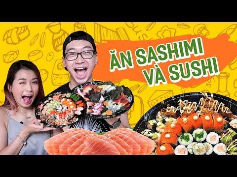 ĂN SASHIMI VÀ SUSHI VỚI CHỊ LY // Ở NHÀ ĂN CẢ THẾ GIỚI #09