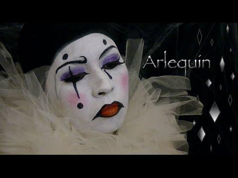 Maquilaje de Arlequin - YouTube