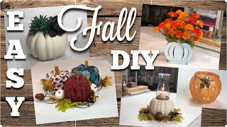 DOLLAR TREE DIY | Easy Fall Décor For Your Home | September 2019
