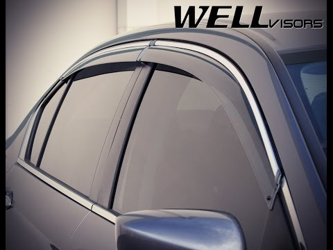 2018 Honda Accord >> WELLvisors side window deflector vent visor Installation Video HONDA ACCORD SEDAN 13-17 - YouTube