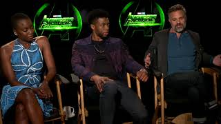 Avengers: Infinity War || Mark Ruffalo Chadwick Boseman And Danai Gurira Interview || SocialNews.XYZ