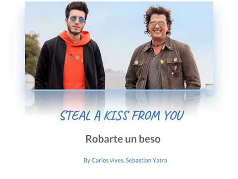 Robarte Un Beso (Steal A Kiss  From You)- Carlos Vives, Sebastian Yatra-English & Spanish Lyrics
