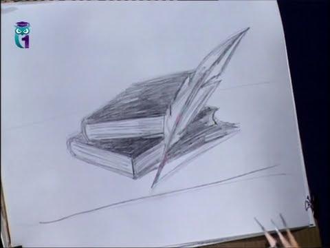 Как нарисовать древнюю книгу