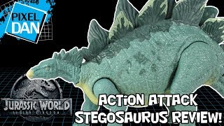 Jurassic World Stegosaurus Action Attack Fallen Kingdom Dinosaur Figure Mattel Video Review