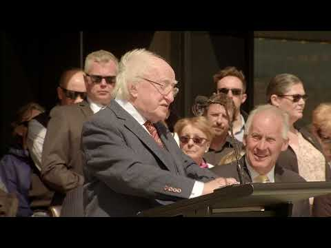 Speech At The Unveiling Of The 'Footsteps' Statues, In Hobart.
