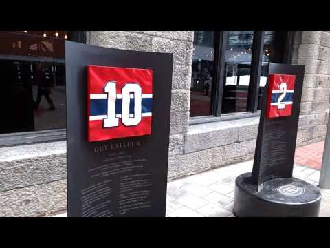 MegaCrasher's very excited! Montreal Habs Centennial Plaza hype! Running wild with energy!