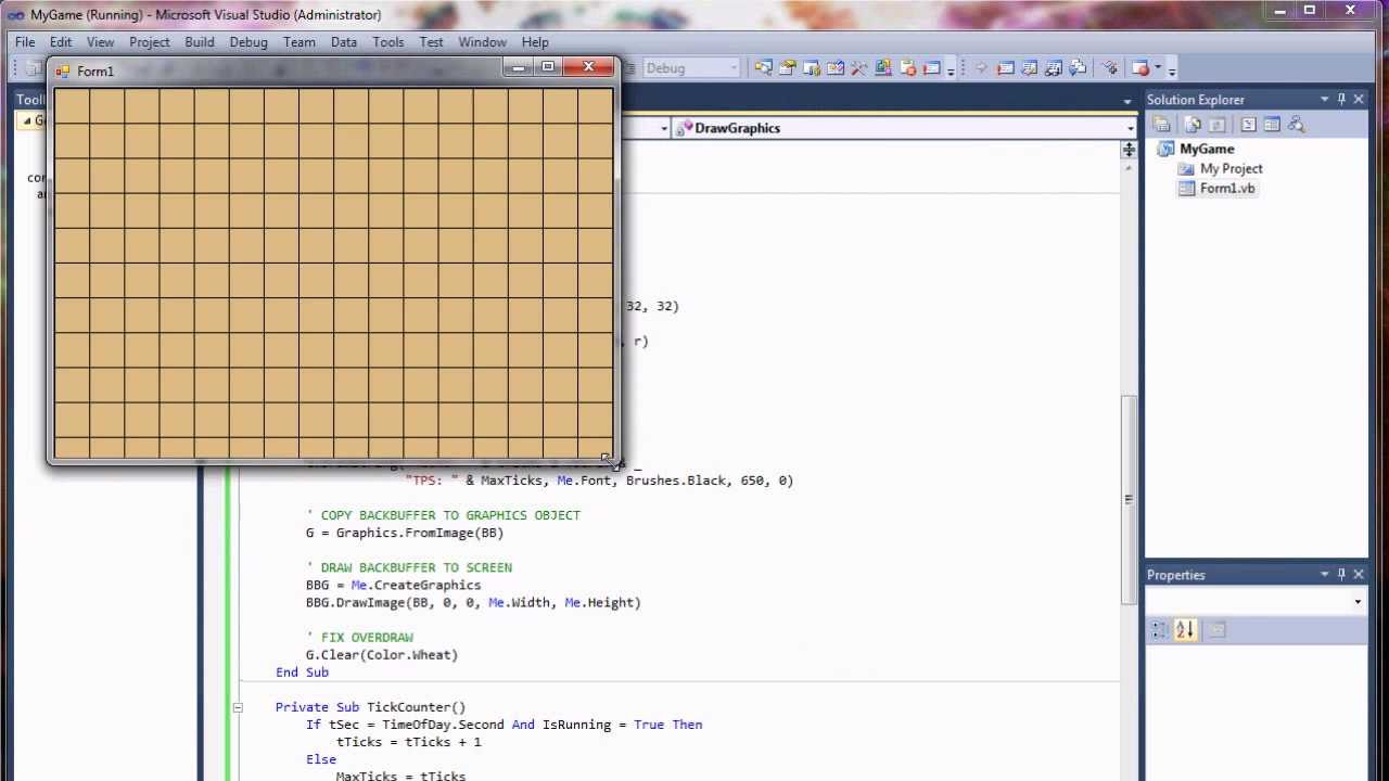 Visual Basic Game Programming Tutorial - Part 1 - Building a Game Loop and  Frame Counter