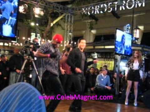 Mario Lopez And Chris Grant Flash Mob Dance For Jennifer Lopez At The Grove For Extra