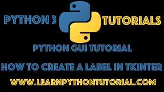 Python GUI Tutorial: How To Create A Label In Tkinter