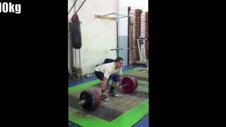 Clean & Jerk workout (200kg, 210kg, 220kg)