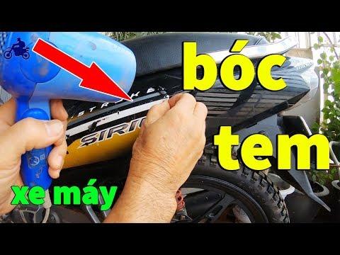 #14 - (Sửa Chữa Xe Máy) - Cách Bóc Tem Xe Máy Dễ Dàng & Nhanh Nhất - Remove Motorcycle Stamps