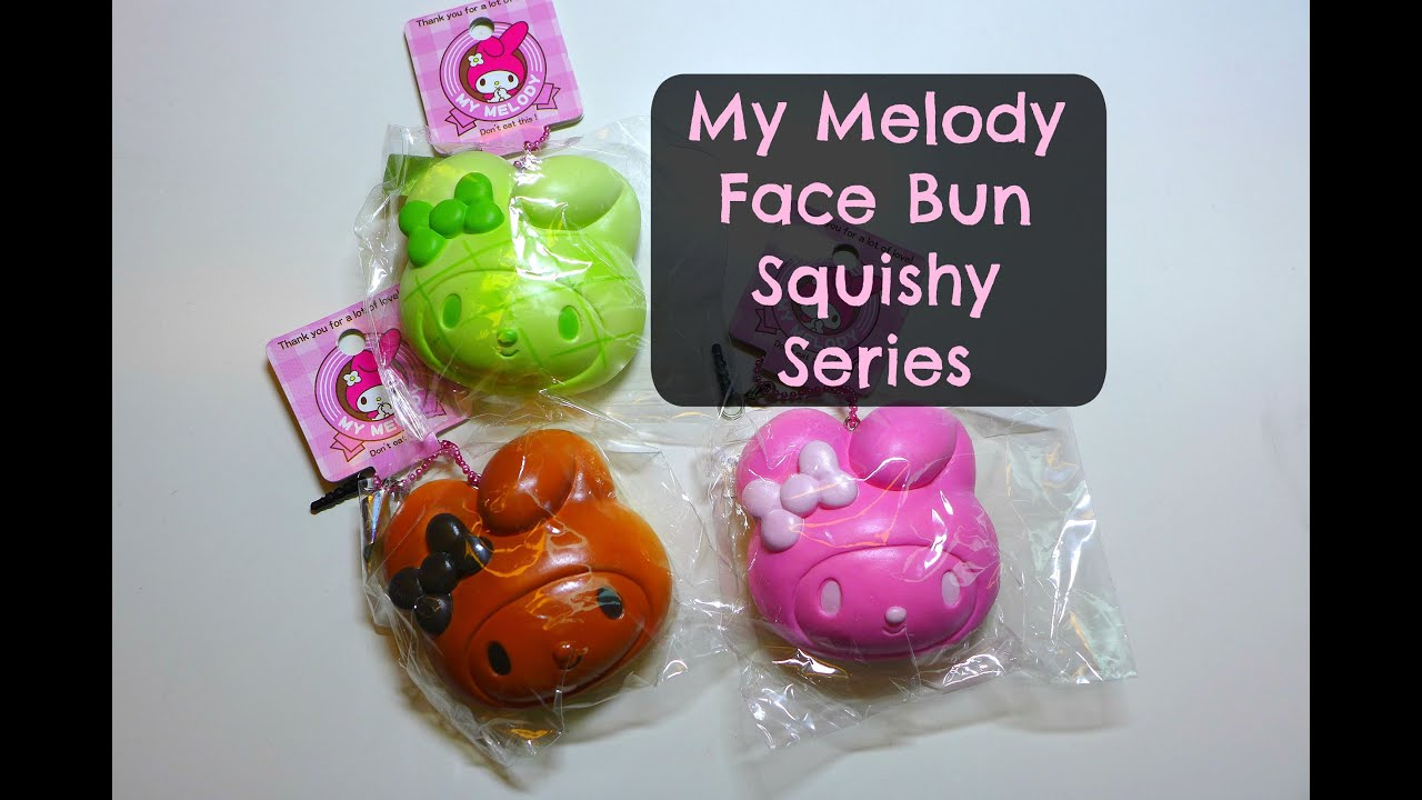 My Squishy Bun Collection : My Melody Face Bun Squishy Series (Reproduced) - YouTube