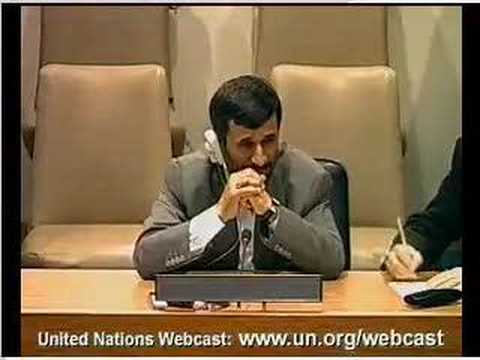 Iran president on Baha'is at UN press conference
