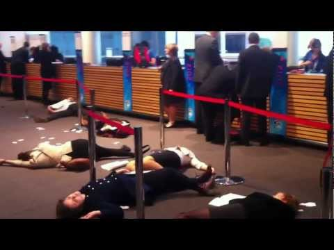 """Die-in"" protest action at APPEA Conference Adelaide 14th May 2012"