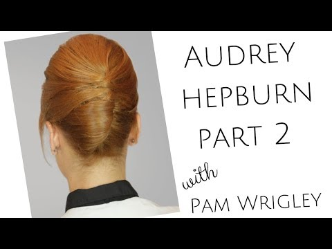 Part 2 Learn Audrey Hepburn/French Pleat vintage bridal hairstyle for short hair.