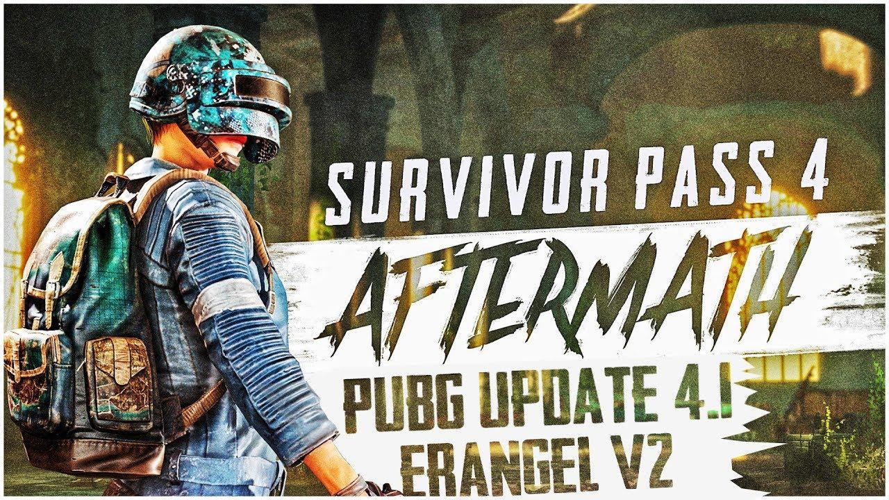 PUBG PC UPDATE 4.1 PATCH NOTES   SURVIVAL PASS 4 AFTERMATH   SKINURI PE VEHICULE SI ERANGEL V2