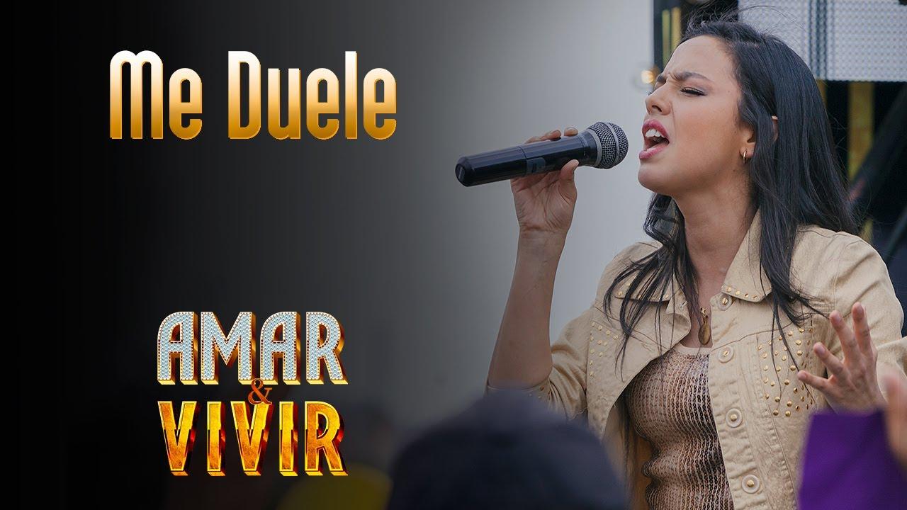 Me Duele Amar Y Vivir Canción Oficial Letra Youtube