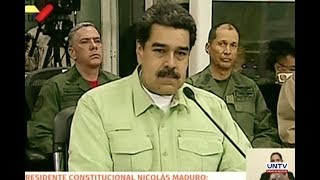 Maduro says he is considering closing Venezuela border with Colombia and Brazil