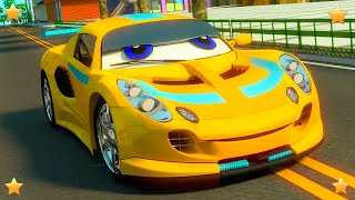 Colors with Cars | Kindergarten Kids Song & Nursery Rhyme Collection by  by Little Treehouse S03