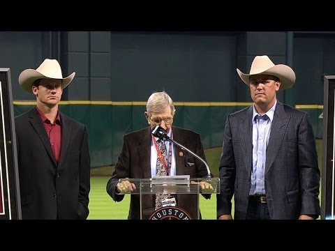 Berkman, Oswalt honored by Astros