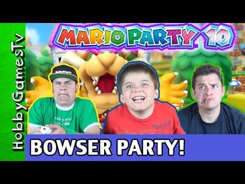 Mario Party 10 Bowser Party #1 Nintendo Wii U GamePlay HobbyPig + HobbyDad + HobbyGuy, HobbyGamesTV
