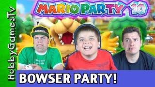 One of HobbyKidsGaming's most viewed videos: Mario Party 10 Bowser Party #1 Nintendo Wii U GamePlay HobbyPig + HobbyDad + HobbyGuy, HobbyGamesTV