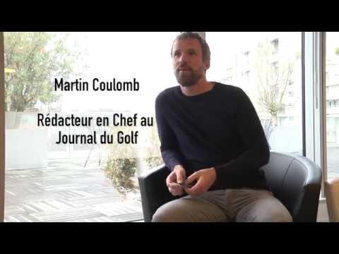 Portrait Martin Coulomb -  journaliste au Journal du golf