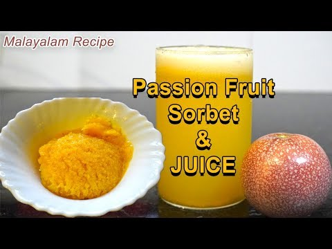 Passion Fruit Sorbet & Juice