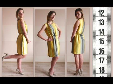 Я ШЬЮ: Платье из шелка в полоску / I SEW: silk dress