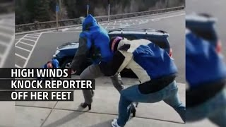 Weather Gone Viral: Reporter Knocked Off Feet by High Wind