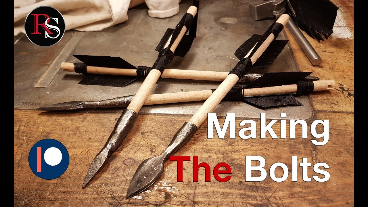 how to make wooden crossbow bolts