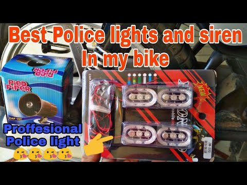 Best Police Light And Siren For Bike | Police Light Or 4 Tune Siren For Scooty And Bike