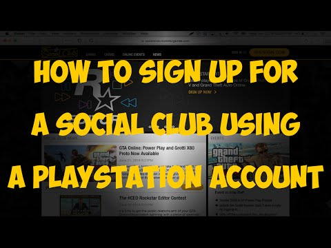 How to sign up for a Social Club account using a PlayStation Network account