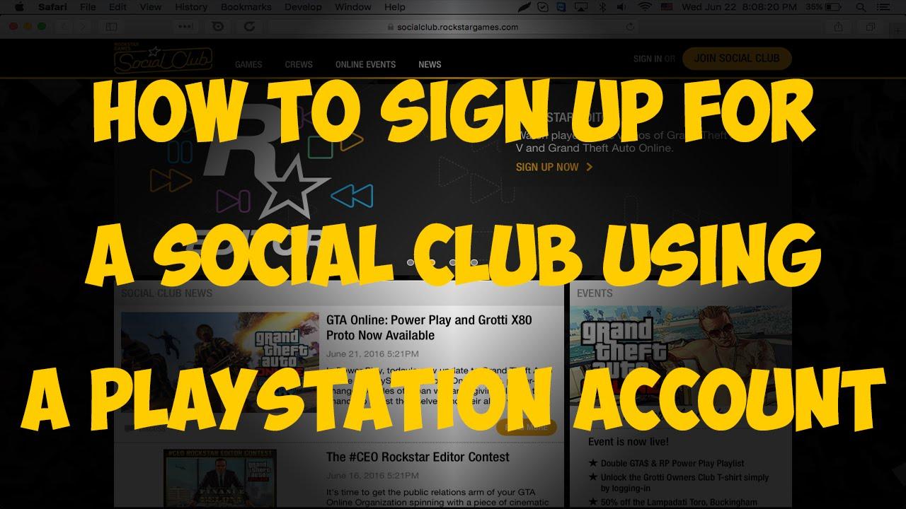 gta 5 social club login ps4