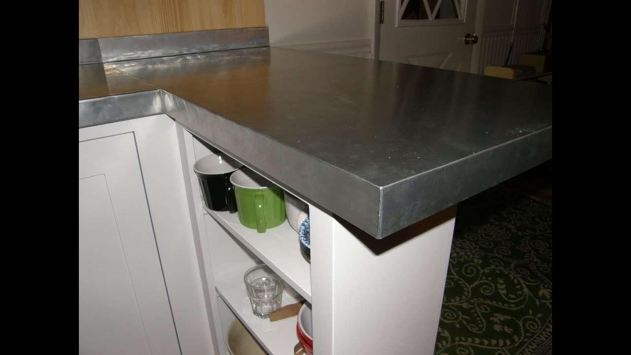 - Kitchen Remodel - PART 3 - Zinc Counter Top With Backsplash - YouTube