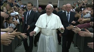 Pope meets soccer stars for first Vatican conference on their favorite sport