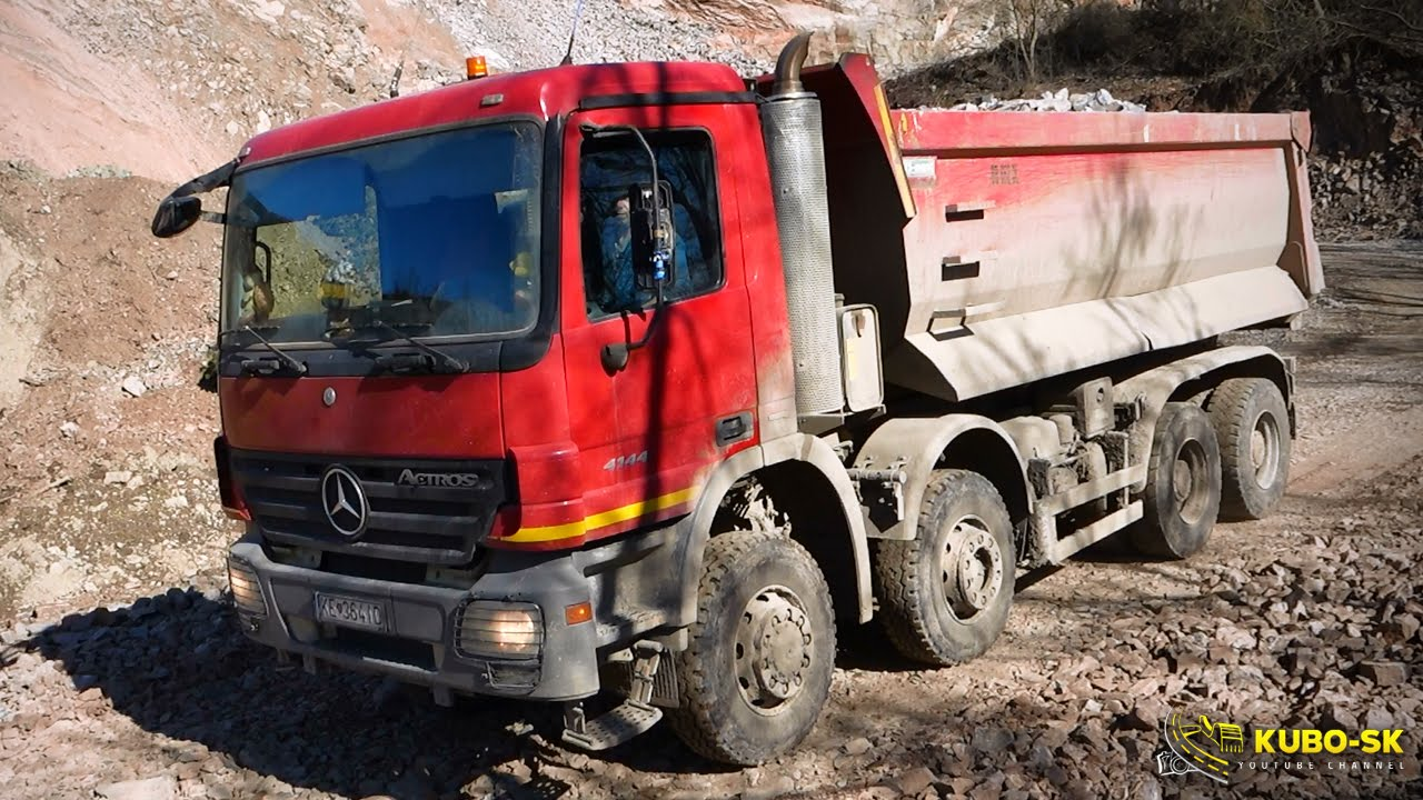 Mercedes Benz Actros 4144 8x6 - Driving At The Quarry