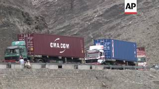 Traffic at reopened Pakistan-Afghanistan border