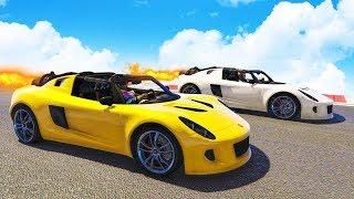 ROCKET CAR RACING! - GTA 5 Funny Moments #742
