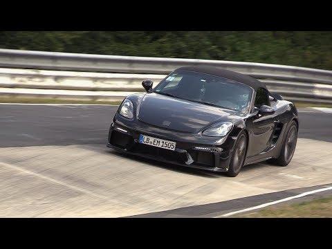 2020 Porsche 718 Boxster Spyder spy shots and video
