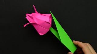 как сделать бумажный подарок маме