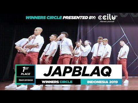 JapBlaq  1st Place Team  Winners Circle  World of Dance Indonesia Qualifier 2019  WODIDN19