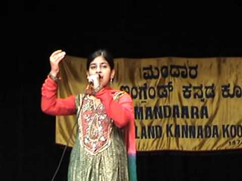 Anusha Kulkarni singing ShilegaLu Sangeetava at NEKK's DeepawaLi function