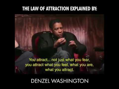 Denzel Washington, Conor McGregor, Jim Carry on the LAW OF ATTRACTION