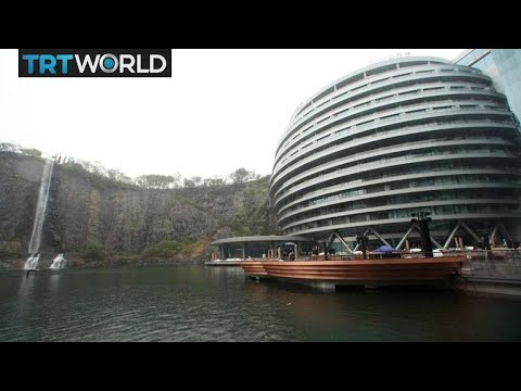 Hotel in abandoned quarry opens in Shanghai | Money Talks