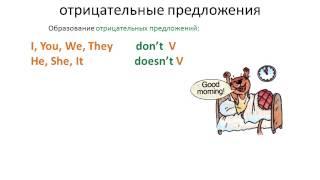 Видеоурок ''Present Indefinite Tense, отрицательные предложения'' - АНГЛИЙСКИЙ ЯЗЫК