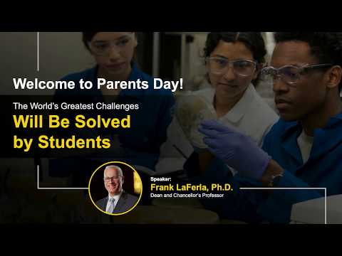 Frank LaFerla, PhD - The World's Greatest Challenges Will Be Solved by Students