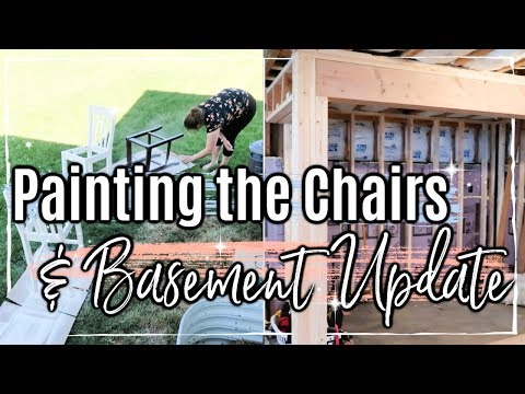REAL DAY IN THE LIFE OF A MOM OF 3 :: CLEANING, DIY OUR CHAIRS & BASEMENT UPDATE :: SAHM DITL VLOG