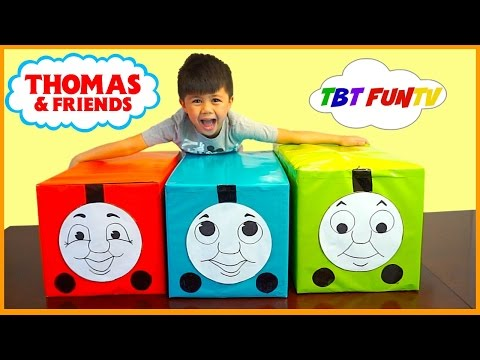HUGE Thomas and Friends TOYS SURPRISE BOX OPENING FUN Thomas Percy James With TBTFUNTV