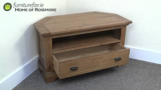 Antiques Oak Corner Tv Unit